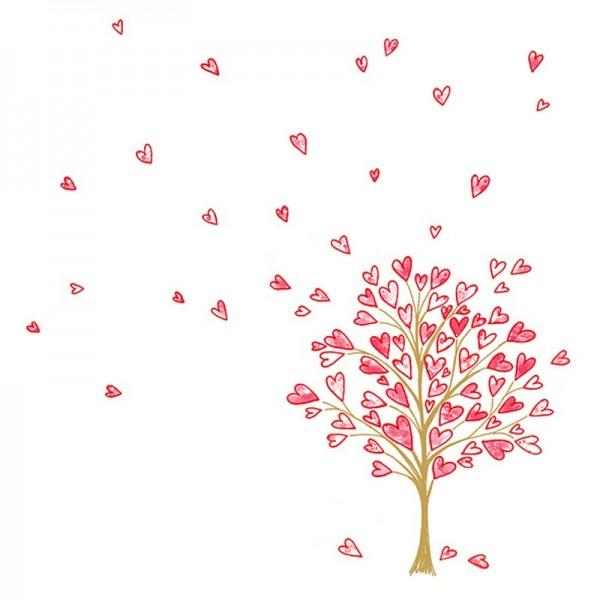 Serviette Atelier: Love Tree rot