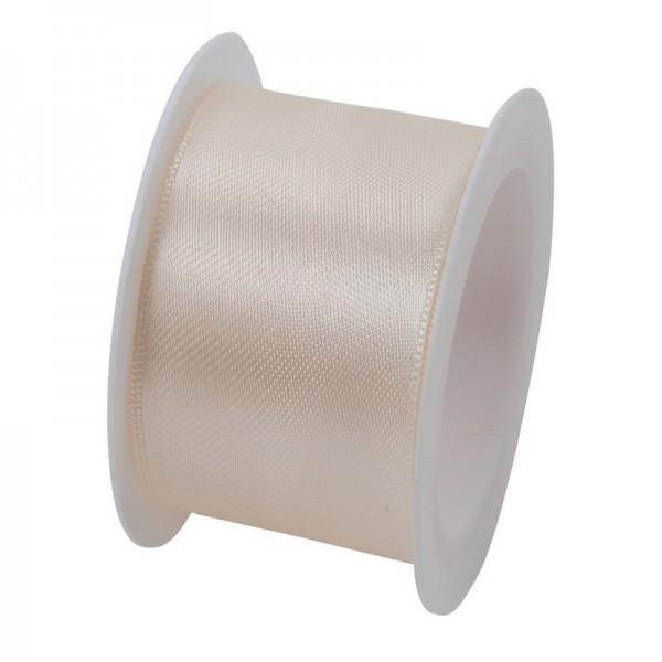 Satinband 40 mm: creme