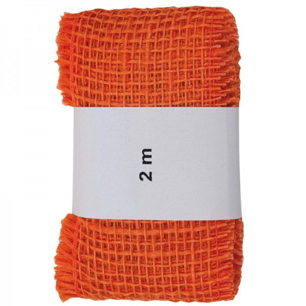 Juteband 60 mm: orange