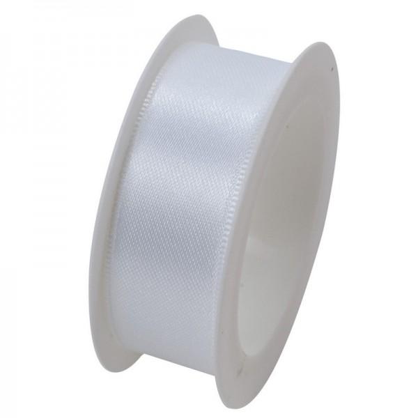 Satinband 24 mm: weiß