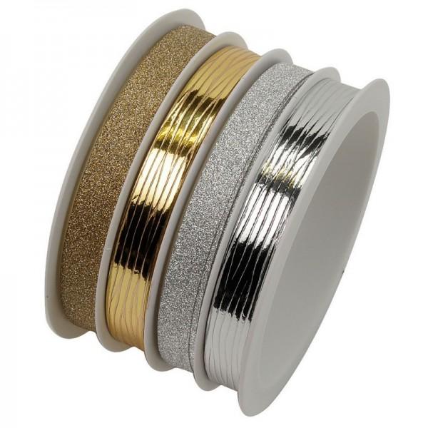 Polyband, Eiknäuel: silber/gold metallic