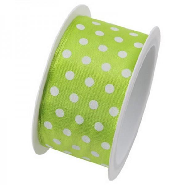Taftband 40 mm: Hot Spots hellgrün