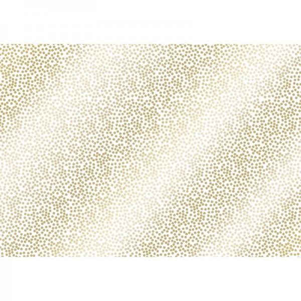 Geschenkpapier: Alu Minidots gold