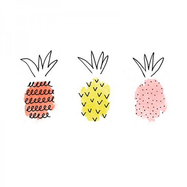 Serviette Avantgarde: Pineapple Mix koralle