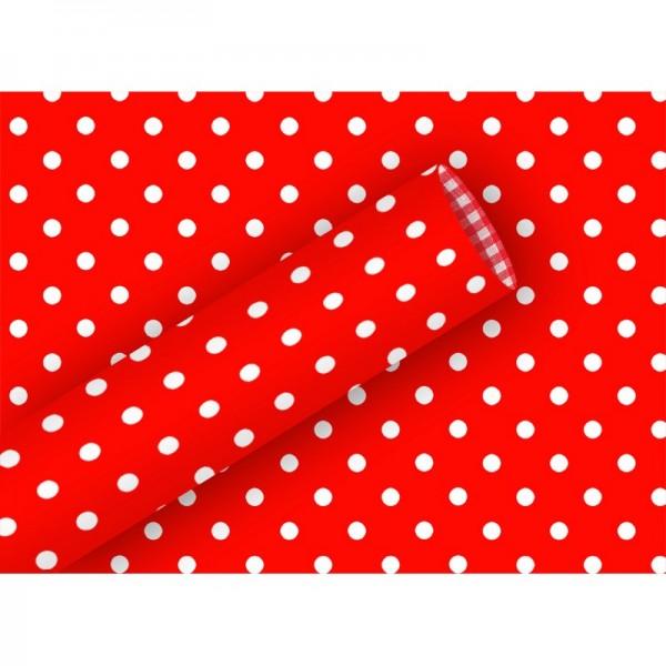 Geschenkpapier: Punkte rot