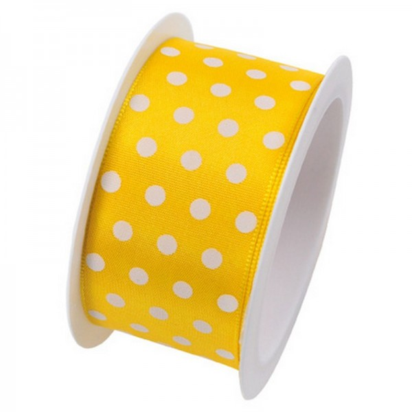 Taftband 40 mm: Hot Spots gelb