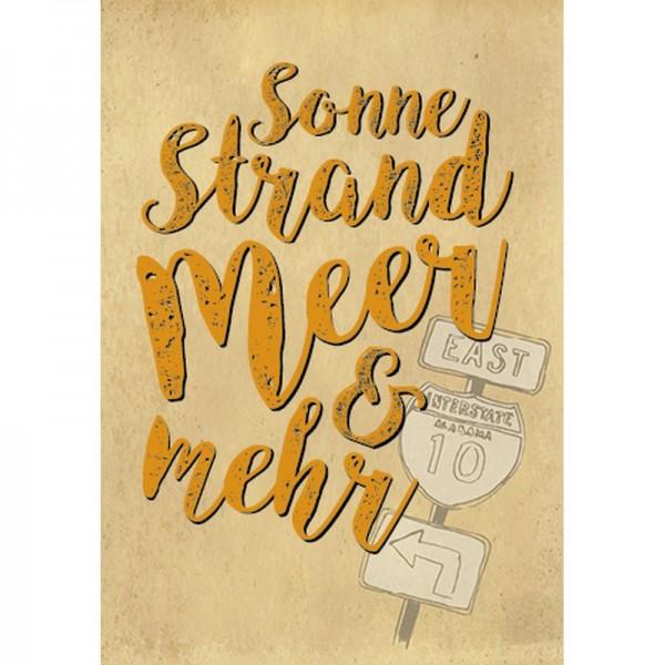 Postkarte Fun&Emotion Sonne Strand ...