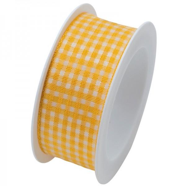 Taftband 25 mm: Vichy gelb