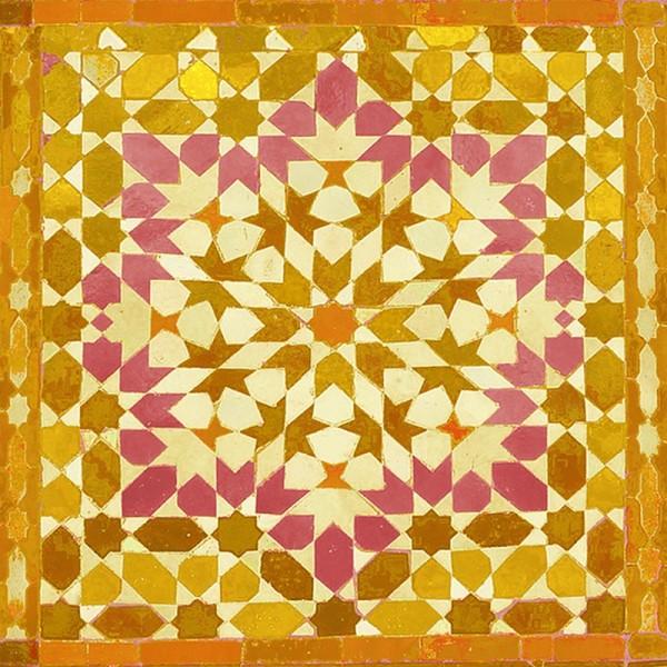 Serviette Atelier: Oriental safran