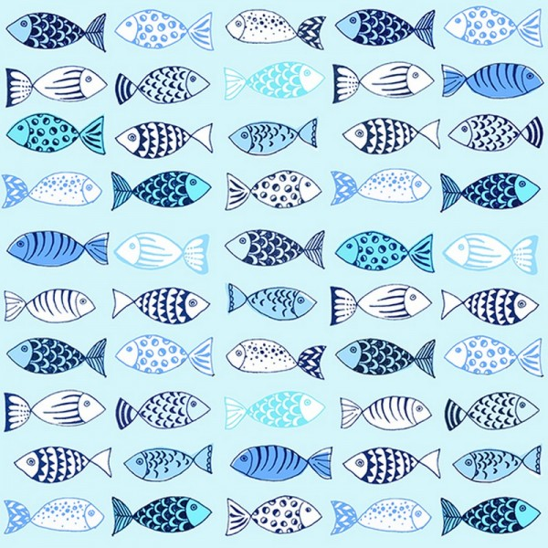 Serviette Atelier: Many Fishes