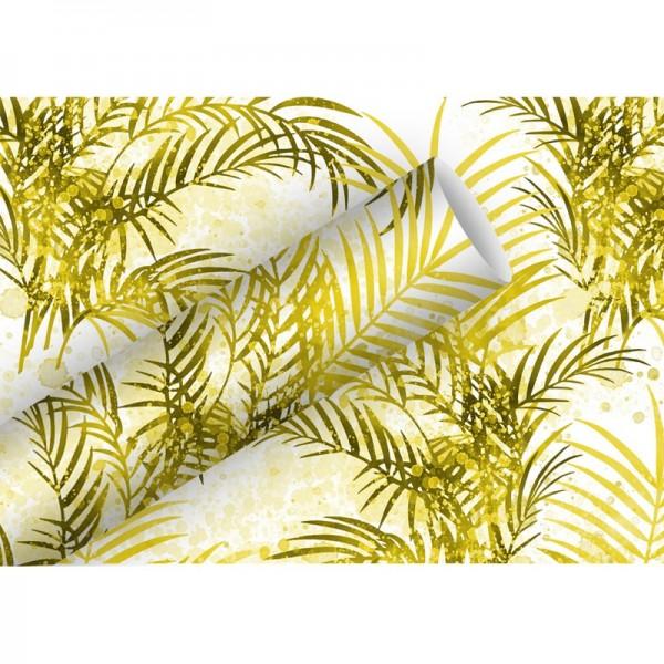 Geschenkpapier: Palmengarten gold