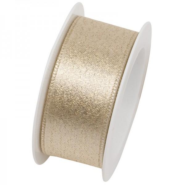 Taftband 25 mm: Brilliant gold