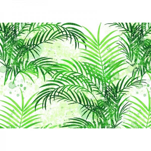 Geschenkpapier: Palmengarten grün