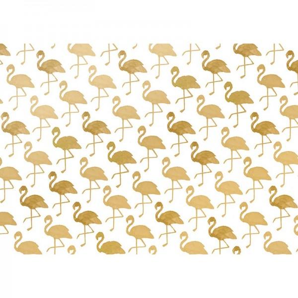 Geschenkpapier: Flamingo gold