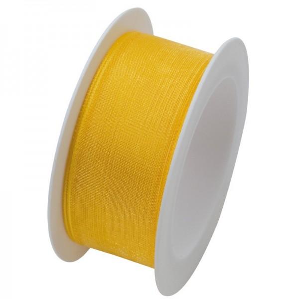 Organzaband 25 mm: gelb