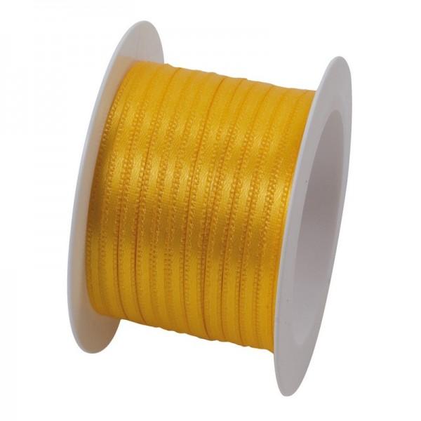 Satinband 3 mm: gelb