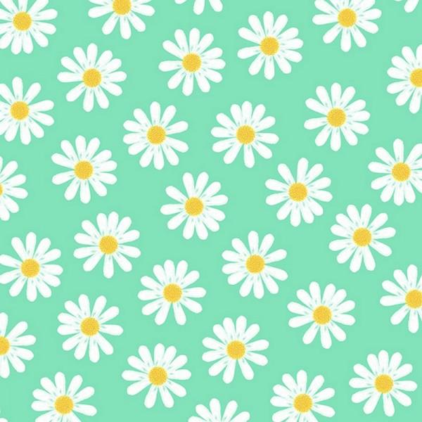 Serviette Atelier: Dancing Daisies mint