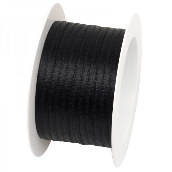 Satinband 3 mm: schwarz
