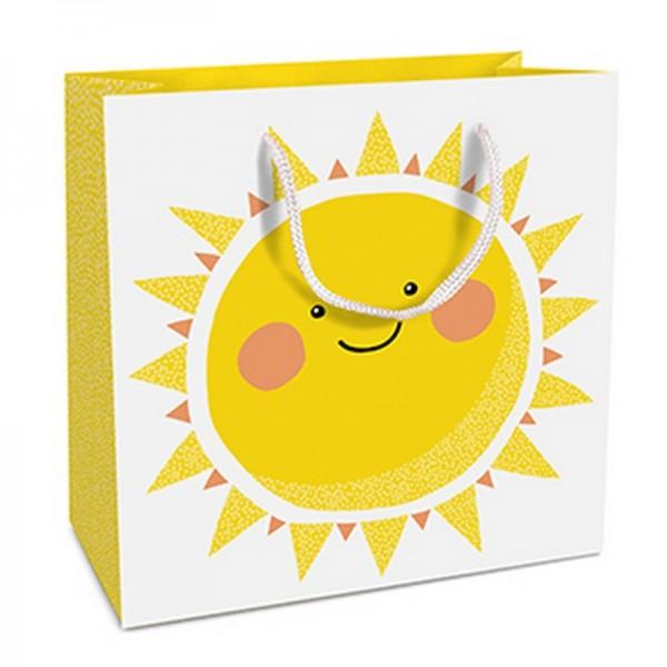Geschenktaschen, 15 x 15 x 6 cm: Happy Sun