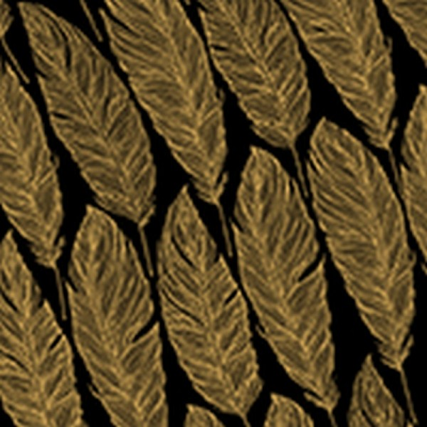 Serviette Avantgarde: Feathers schwarz