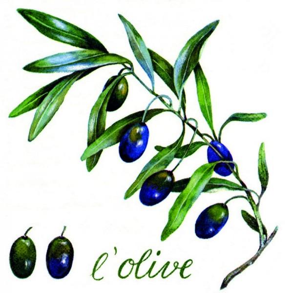 Serviette Atelier: L'Olive, weiß