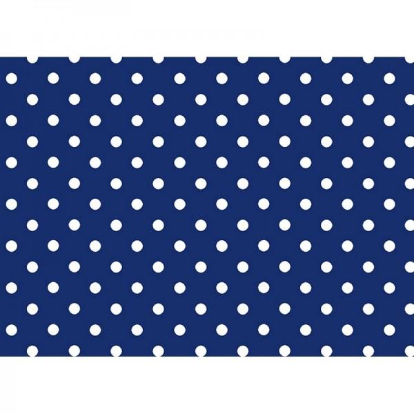 Geschenkpapier: Punkte, blau
