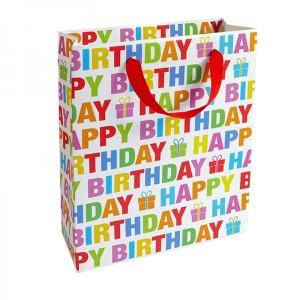 Geschenktaschen, 18 x 21 x 8 cm: Colour Birthday