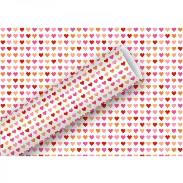 Geschenkpapier: Heart to Heart, rot