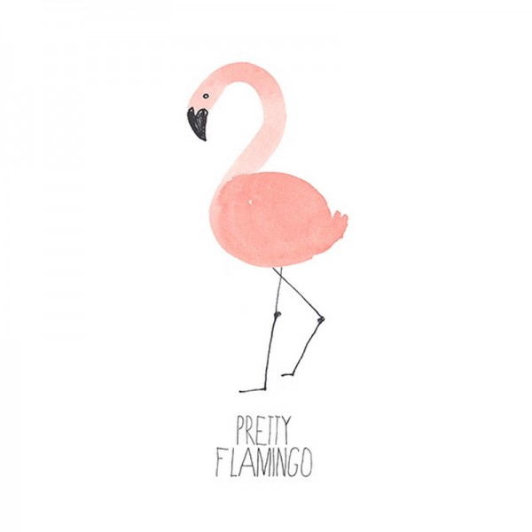 Serviette Avantgarde: Pretty Flamingo