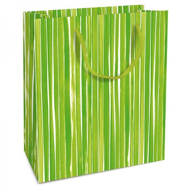 Geschenktaschen, 18 x 21 x 8 cm: Brush Stripes gr