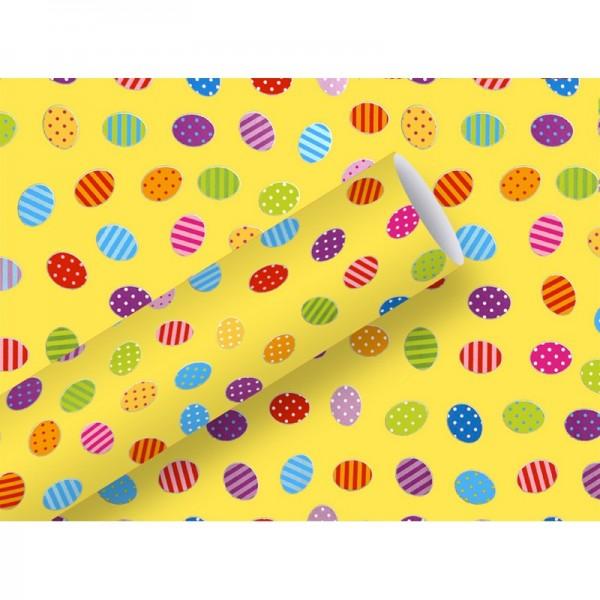 Geschenkpapier: Ostereier, gelb