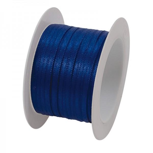 Satinband 3 mm: blau
