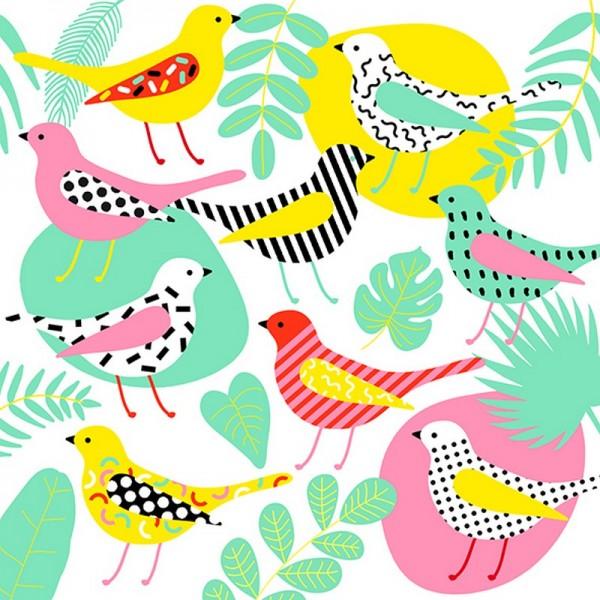 Serviette Atelier: Modern Birds