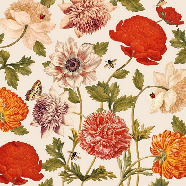 Serviette Atelier: Flora Botanica creme