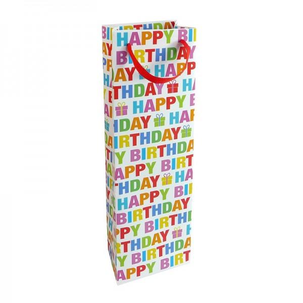 Flaschentaschen, 12 x 37 x 8 cm: Colour Birthday