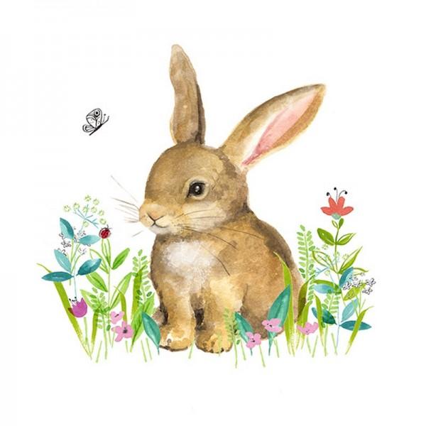 Serviette Atelier: Little Bunny