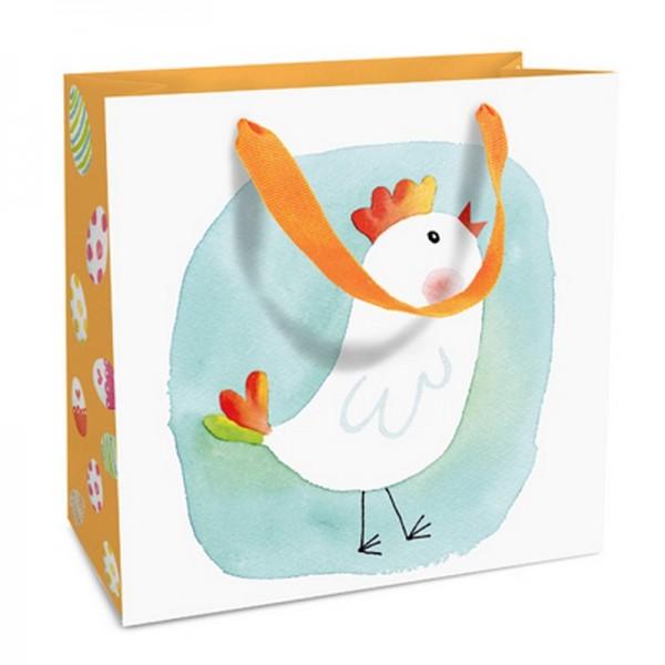 Geschenktaschen, 15 x 15 x 6 cm: Blue Chick
