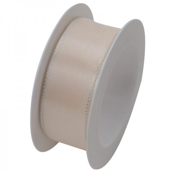 Taftband 25 mm: creme