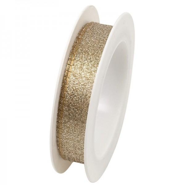 Taftband 15 mm: gold
