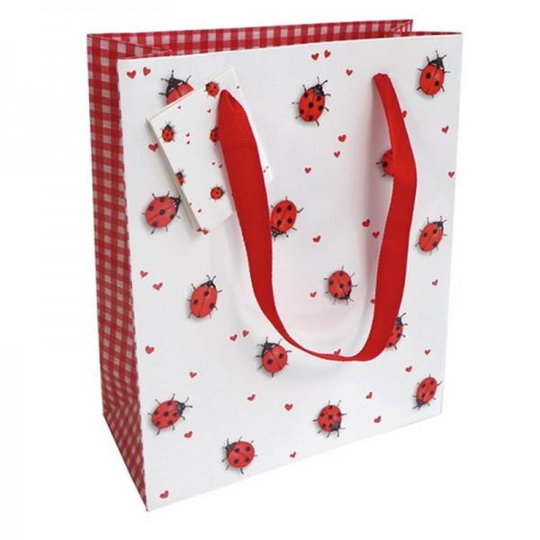 Geschenktaschen, 18 x 21 x 8 cm: Ladybirds
