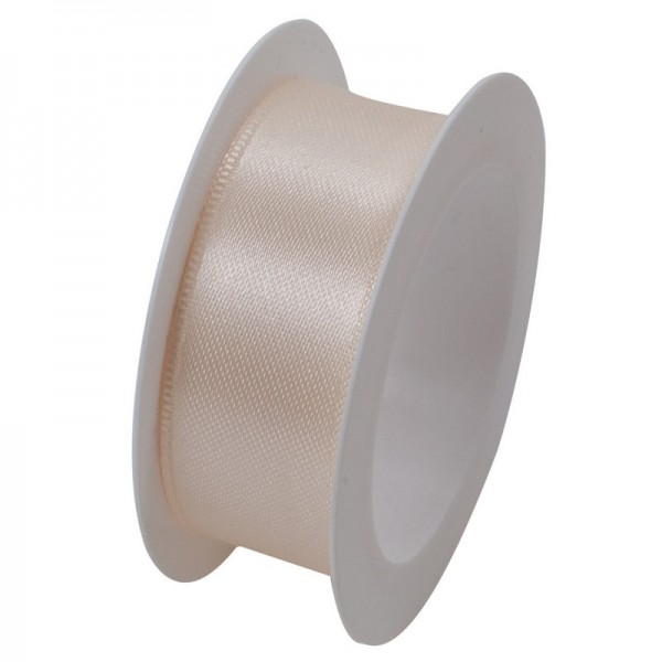 Satinband 24 mm: creme