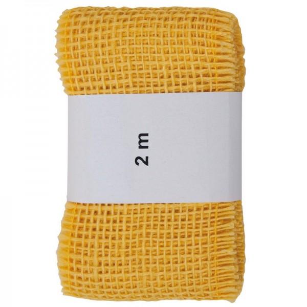 Juteband 60 mm: gelb