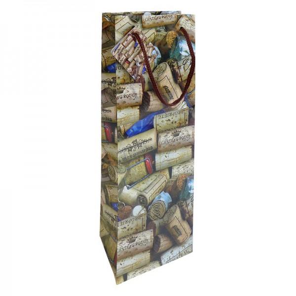 Flaschentaschen, 12 x 37 x 8 cm: Korken