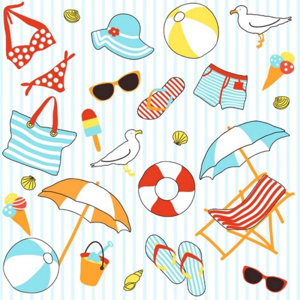 Serviette Atelier: Beach Summer