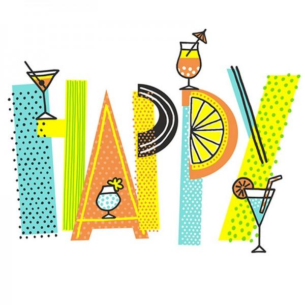 Serviette Atelier: Happy Drinks
