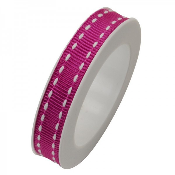 Ripsband 10 mm: Stich pink
