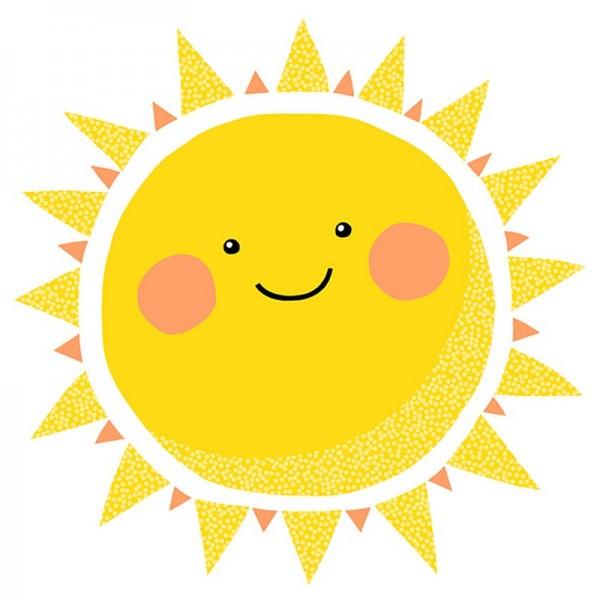 Serviette Atelier: Happy Sun