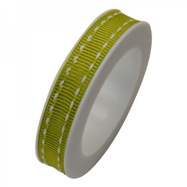 Ripsband 10 mm: Stich limone