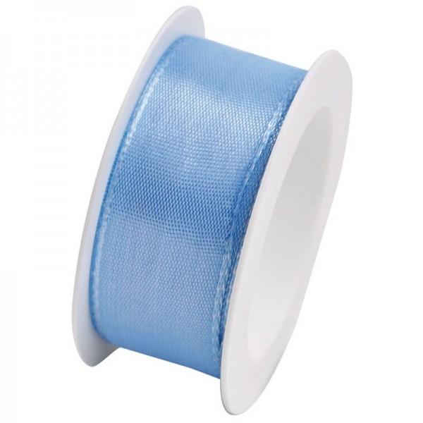Taftband 25 mm: hellblau