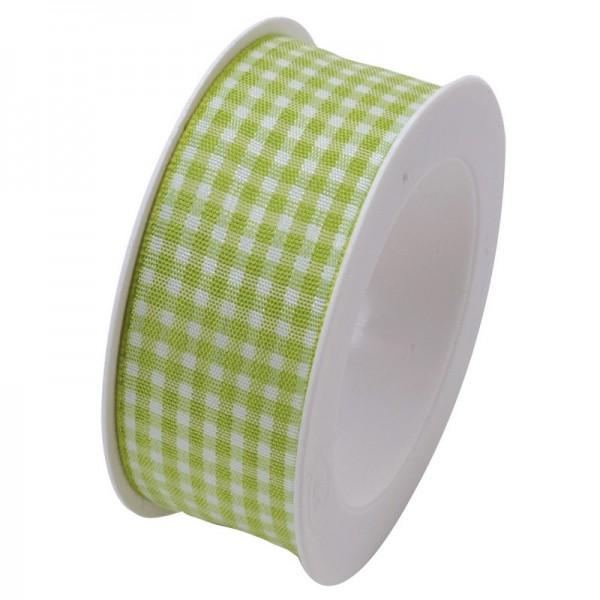 Taftband 25 mm: Vichy hellgrün